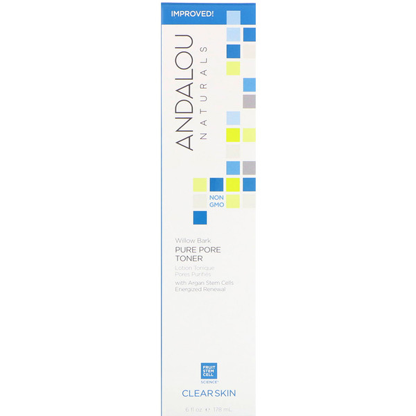 Andalou Naturals, Pure Pore Toner, Willow Bark, Clear Skin, 6 fl oz (178 ml)