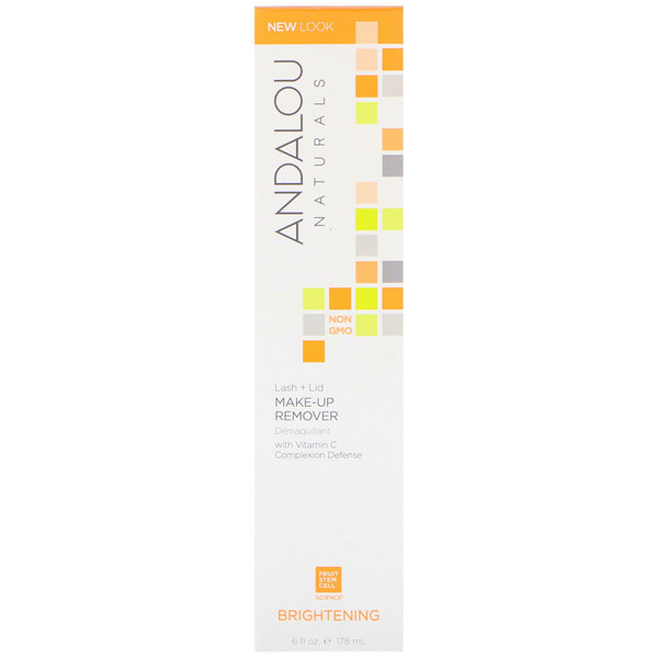 Andalou Naturals, Lash Plus Lid Make-Up Remover, Brightening, 6 fl oz (178 ml)
