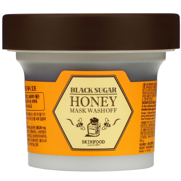 Skinfood, Black Sugar Honey Mask Wash Off, 3.5 oz (100 g)