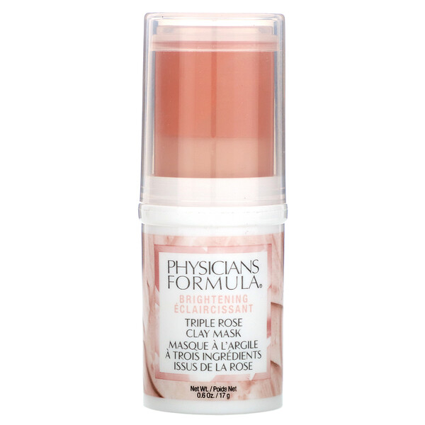 Physicians Formula, Triple Rose Clay Mask, Brightening, 0.6 oz (17 g)
