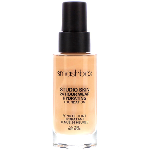 Smashbox, Studio Skin 24 Hour Wear Hydrating Foundation 2.15 Light with Cool Undertone, 1 fl oz (30 ml)