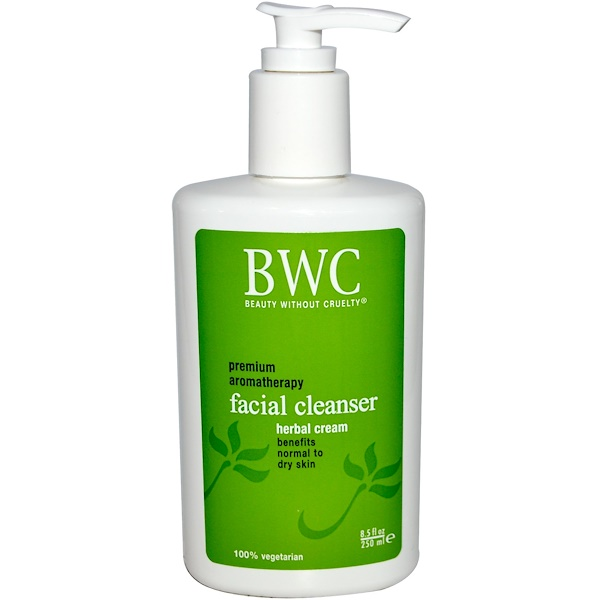 Beauty Without Cruelty, Facial Cleanser, Herbal Cream, 8.5 fl oz (250 ml)