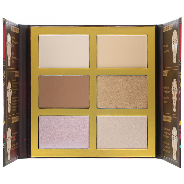 J.Cat Beauty, Symphony Face Obsession, Highlight, Contour & Bronzer Palette, SFO101 #1 Light/Medium, 0.97 oz (27.5 g)