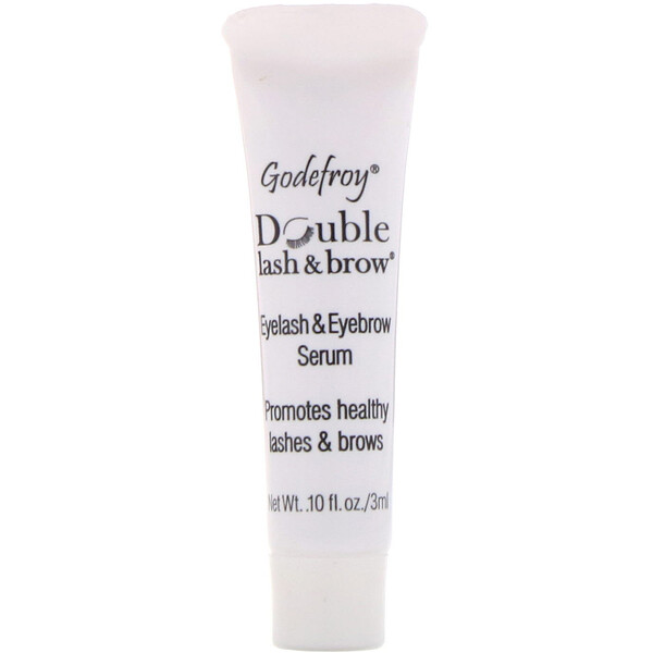 Godefroy, Double Lash & Brow, Eyelash and Eyebrow Serum, 0.1 fl oz (3 ml)