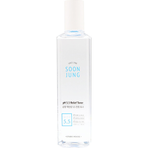Etude House, Soon Jung, pH 5.5 Relief Toner, 6.08 fl oz (180 ml)