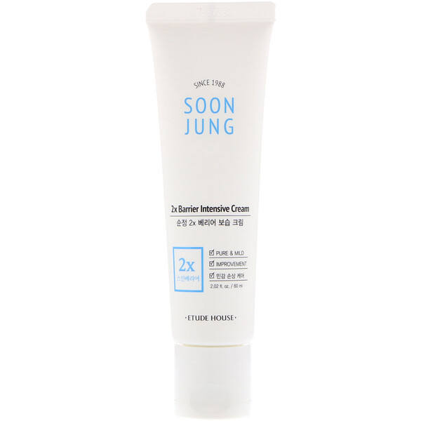 Etude House, Soon Jung, 2x Barrier Intensive Cream, 2.02 fl oz (60 ml)
