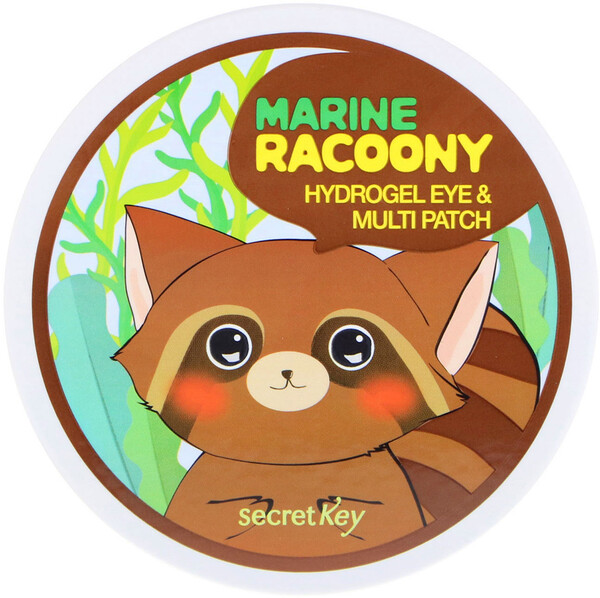 Secret Key, Marine Racoony Hydrogel Eye & Multipatch, 60 Patches