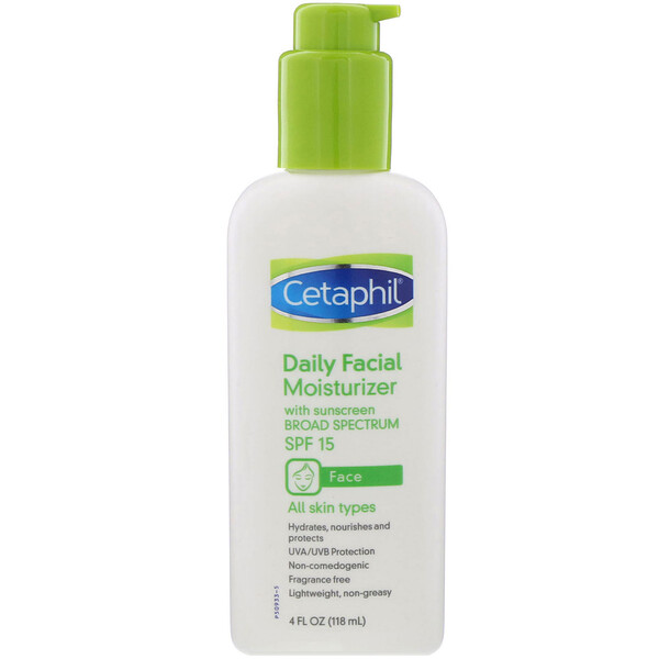 Cetaphil, Daily Facial Moisturizer, SPF 15, 4 fl oz (118 ml)