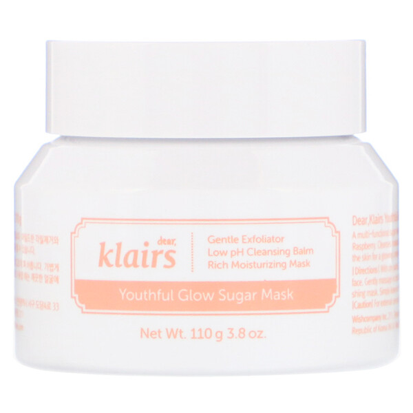 Dear, Klairs, Youthful Glow Sugar Mask, 3.8 oz (110 g)