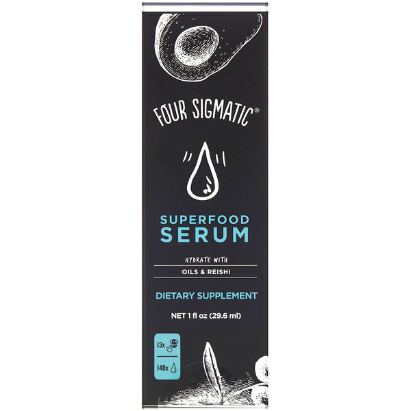 Four Sigmatic, Superfood Serum, Hydrate with Oils & Reishi, 1 fl oz (29.6 ml)