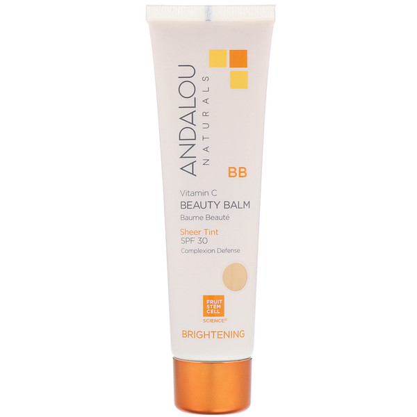 Andalou Naturals, BB Vitamin C Beauty Balm, Brightening, SPF 30, Sheer Tint, 2 fl oz (58 ml)