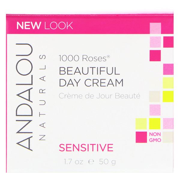 Andalou Naturals, 1000 Roses Beautiful Day Cream, Sensitive, 1.7 oz (50 ml)