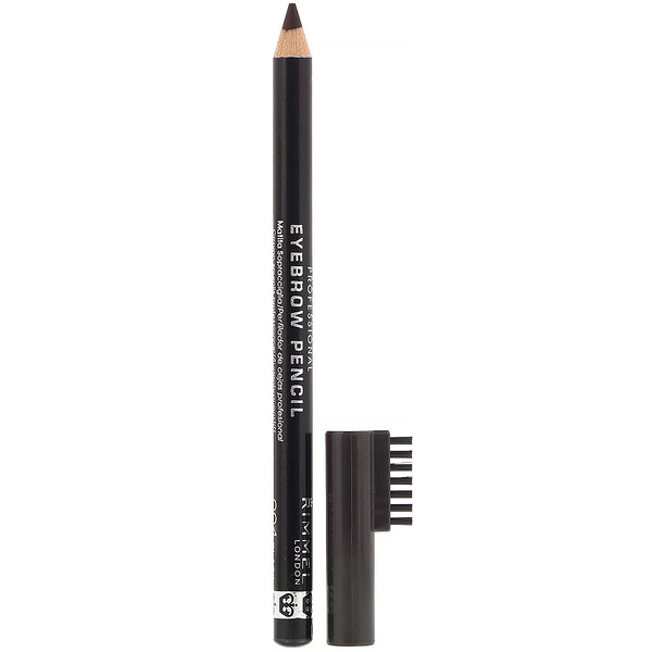 Rimmel London, Professional Eyebrow Pencil, 004 Black Brown, .05 oz (1.4 g)
