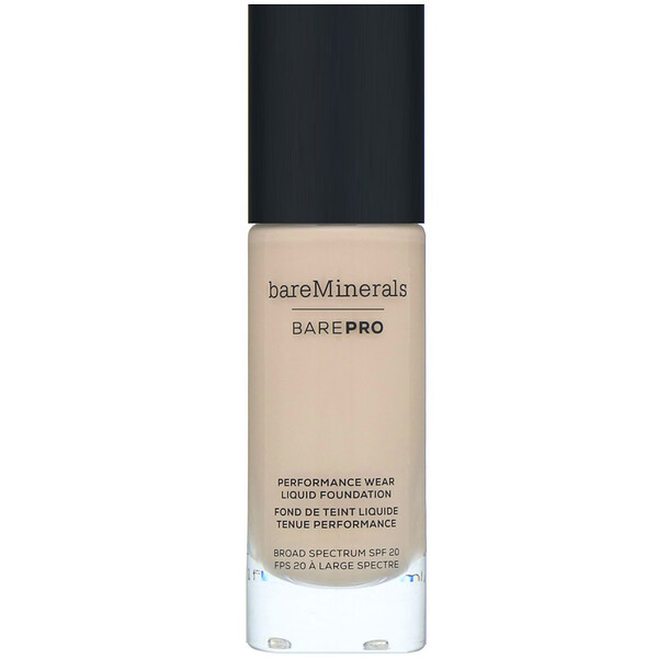 bareMinerals, BAREPRO, Performance Wear, Liquid Foundation, SPF 20, Warm Natural 12, 1 fl oz (30 ml)