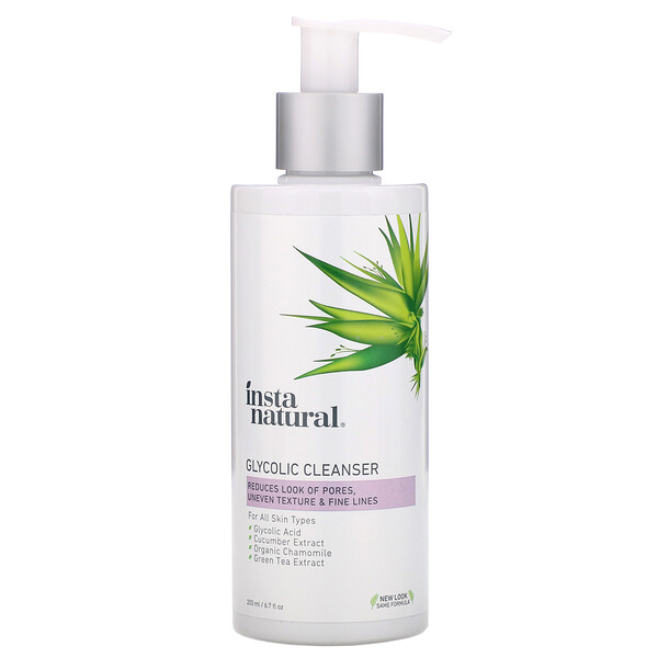 InstaNatural, Glycolic Cleanser, 6.7 fl oz (200 ml)