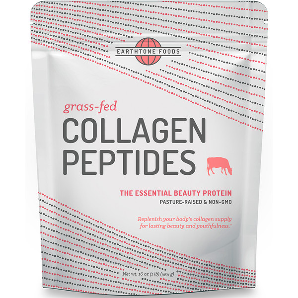 Earthtone Foods, Grass-Fed Collagen Peptides, Unflavored, 16 oz (454 g)