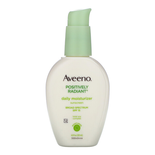Aveeno, Active Naturals, Positively Radiant, Daily Moisturizer, with Sunscreen, SPF 15, 4.0 fl oz (120 ml)
