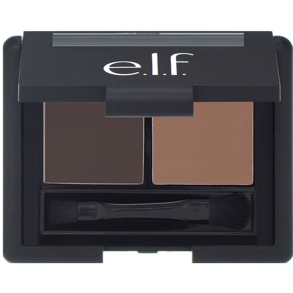 E.L.F., Eyebrow Kit, Gel & Powder, Dark, Gel 0.05 oz (1.4 g) Powder 0.08 oz (2.3 g)