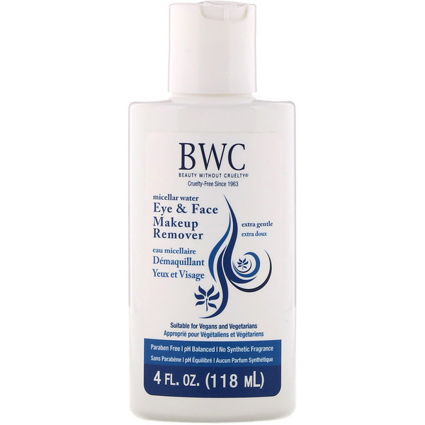 Beauty Without Cruelty, Eye & Face Makeup Remover, Extra Gentle, 4 fl oz (118 ml)