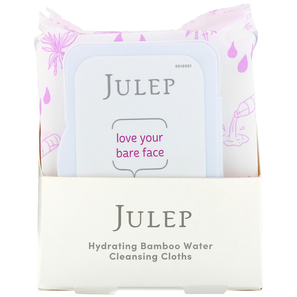Julep, Love Your Bare Face, Hydrating Bamboo Water Cleansing Cloths, 30 Towelettes
