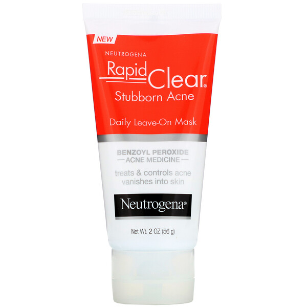 Neutrogena, Rapid Clear, Stubborn Acne, Daily Leave-On Mask, 2 oz (56 g)