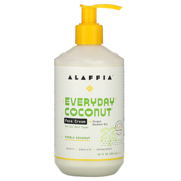 Alaffia, Everyday Coconut, Face Cream, Purely Coconut, 12 fl oz (354 ml)