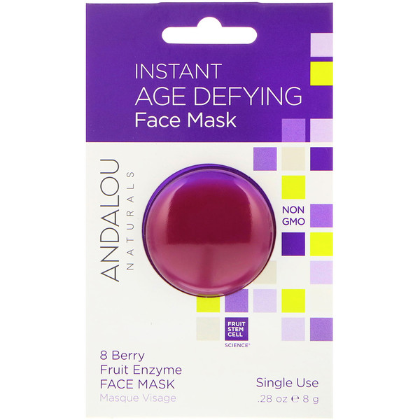 Andalou Naturals, Instant Age Defying, 8 Berry Fruit Enzyme Face Mask, .28 oz (8 g)