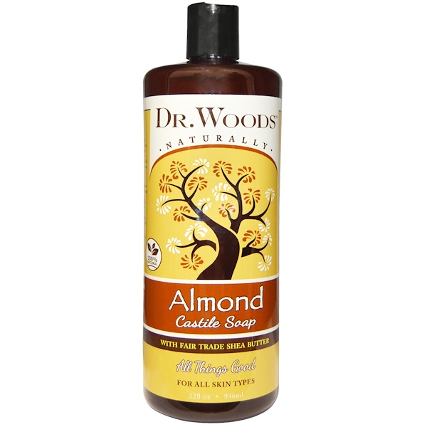 Dr. Woods, Almond Castile Soap with Fair Trade Shea Butter, 32 fl oz (946 ml)