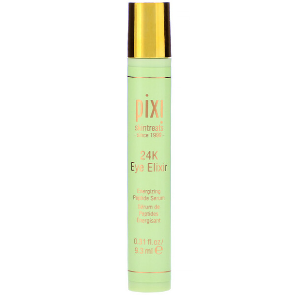 Pixi Beauty, 24K Eye Elixir with Gold & Collagen, Energizing Peptide Serum, .31 fl oz (9.3 ml)