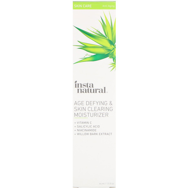 InstaNatural, Age Defying & Skin Clearing Moisturizer, Anti-Aging, 1.5 fl oz (44 ml)