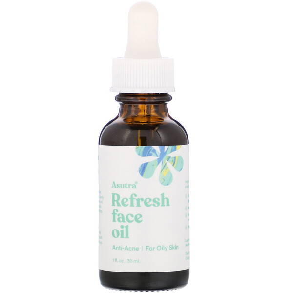 Asutra, Refresh Face Oil, 1 fl oz (30 ml)
