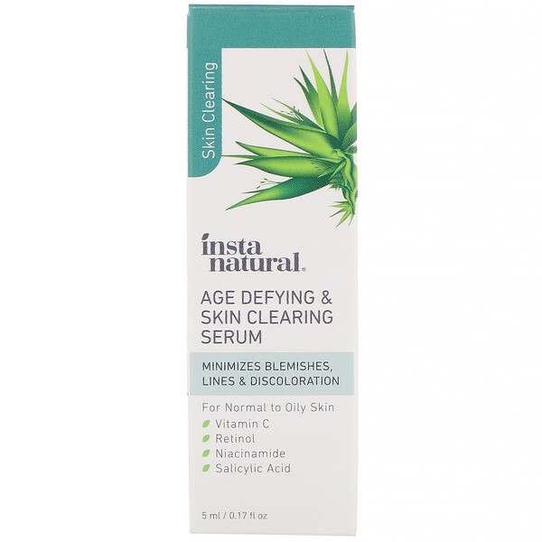 InstaNatural, Age Defying & Skin Clearing Serum, 0.17 fl oz (5 ml)