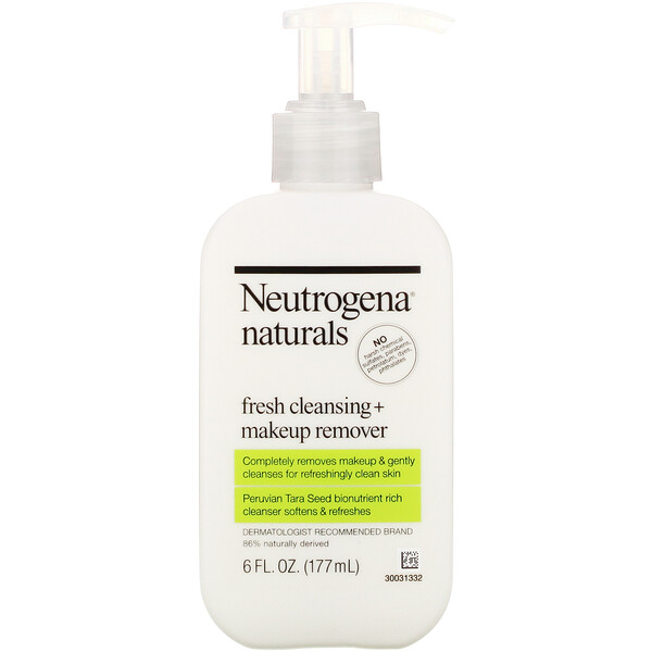 Neutrogena, Neutrogena, Naturals, Fresh Cleansing + Makeup Remover, 6 fl oz (177 ml)